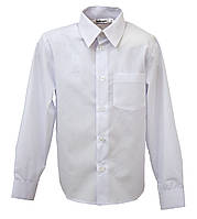 Белая рубашка для мальчика, рост 116-122 см, фото 1