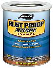 Краска по металлу БЕЛАЯ МАТОВАЯ RUST PROOF ANY-WAY Enamel (США) 0.94, фото 1