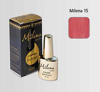 Гель-лак для ногтей «Milena» 15 розово-красный Арго (бескислотный, гипоаллергенный, не течет)