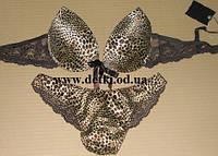 Комплект женского нижнего белья Balaloum леопардовый 80 С