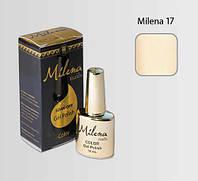 Гель-лак для ногтей «Milena» 17 бежевый (бескислотный, гипоаллергенный, высоко пигментированный, не течет)