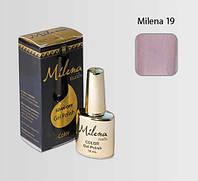 Гель-лак для ногтей «Milena» 19 серо-фиолетовый Арго (бескислотный, гипоаллергенный, не течет)