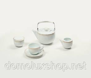 DPL Mix Dots Gold Набор чайный 17 предметов (020322)