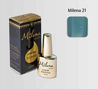 Гель-лак для ногтей «Milena» 21 темный аквамарин Арго (бескислотный, гипоаллергенный, не течет)