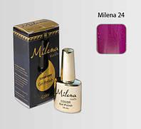 Гель-лак для ногтей «Milena» 24 пурпурный фиолетовый Арго (бескислотный, гипоаллергенный, не течет)