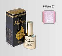 Гель-лак для ногтей «Milena» 27 розовый перламутр блеск (бескислотный, гипоаллергенный, не течет)
