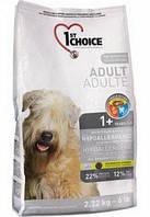 1st Choice Adult Hipoallergenic корм для собак гипоаллергенный, утка и картофель, 6 кг