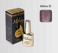 Гель-лак для ногтей «Milena» 35 сиреневый с блестками Арго (бескислотный, гипоаллергенный, не течет)