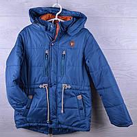 """Куртка подростковая (Юниор) демисезонная """"Fashion"""". 12-17 лет. Синий джинс. Оптом."""