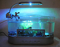 USB Аквариум-органайзер-часы-термометр для живых рыбок все условия