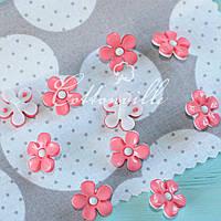 Пуговицы детские Цветочек нежно-розовый