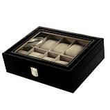 Шкатулка для часов и браслетов на 10 отделений, фото 2