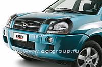 Дефлектор капота мухобойка с лого EGR HYUNDAI TUCSON 2004-2008 # 314030DSL