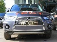 Решетка в бампер и радиатор сетка для Mitsubishi Outlander XL 2010+