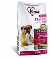 1st Choice Senior Sensitive Skin & Coat корм для пожилых собак с чувствительной кожей, 2.72 кг