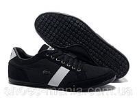 Кроссовки черные кожаные Lacoste Seed Casual черные