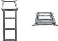 Лестница для фургона выдвижная 3 ступеньки 680*382mm (гарячий цинк), фото 1