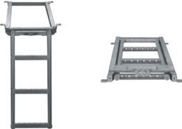 Лестница для фургона выдвижная 3 ступеньки 680*382mm (цинк), фото 1