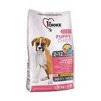 1st Choice Puppy Sensitive Skin корм для щенков с чувствительной кожей, ягненок и рыба, 14 кг