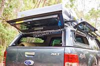 Кунг Aeroklas для Ford Ranger 2012+  (боковые окна открываются вверх)