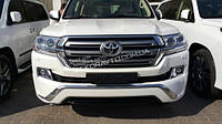 Аэродинамические накладки на передний и задний бампер  Toyota LC200 2016+
