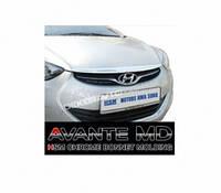Хром накладка на капот для Hyundai Elantra MD 2011+