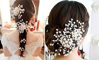 Заколка свадебная, праздничная для волос