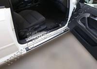 Хром накладки на внутренние пороги (нерж.) 2 шт. (Сoupe) Omsa для Audi A3