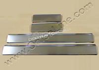 Хром накладки на внутренние пороги (нерж.) 4 шт.. Omsa для Audi A3