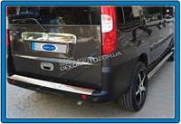 Хром накладка на задний бампер (нерж.)  для Fiat Doblo 2001-2009