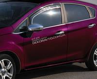 Хром накладки на дверные ручки (нерж.) 4-дверн. для Ford Fiesta 2008+