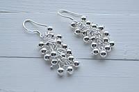 Сережки в стиле Tiffani покрытые серебром 925 пробы