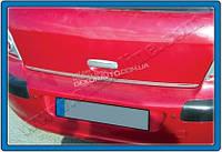 Хром накладка на нижнюю кромку крышки багажника (нерж.) для Peugeot 307 2001-2008