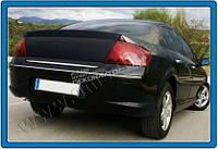 Хром накладка на нижнюю кромку крышки багажника (нерж.) для Peugeot 407 2005-2011