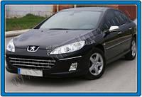 Хром накладки на зеркала (Abs хром.) для Peugeot 407 2005-2011