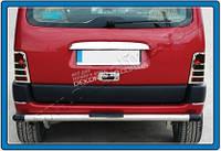 Хром Накладка над номером на крышку багажника (нерж.) 1-дверн. для Peugeot Partner 1996-2008