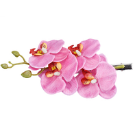 Заколка с цветами, праздничная для волос розовая