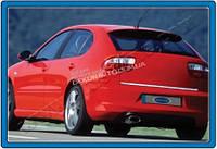 Хром накладка на нижнюю кромку крышки багажника (нерж.) для Seat Leon 2000-2009