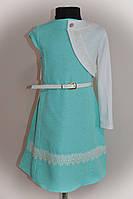 Платье двойка, с болеро, для девочек, мятное
