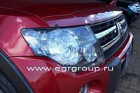 Защита фар прозрачная PAJERO V 80  2007+ Защита фар EGR прозрачная PAJERO V 80  2007-