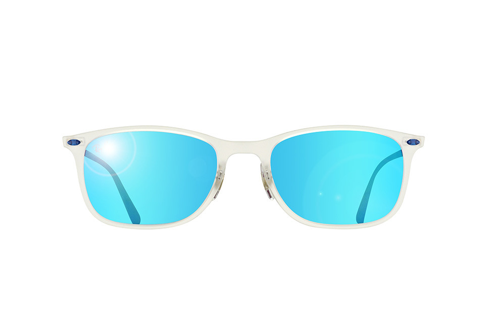 Солнцезащитные очки Ray-Ban New Wayfarer Light Ray Blue Mirror RB4225 646/55 52
