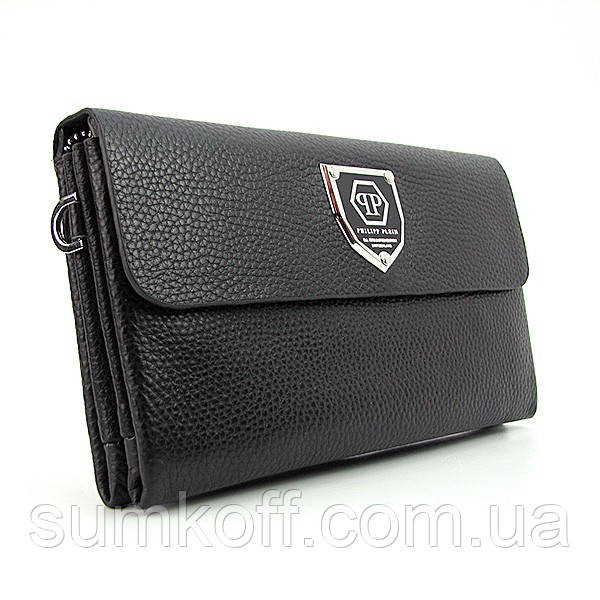 2f3cc67271be Клатч Philipp Plein мужской кожа черного цвета - Интернет магазин сумок  SUMKOFF - женские и мужские