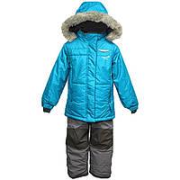 Зимний термокостюм для девочки 6 лет р. 116 (куртка, брюки, манишка) ТМ PerlimPinpin VH255B, фото 1