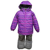 Зимний термокостюм для девочки 6 лет р. 116 (куртка, брюки, манишка) ТМ PerlimPinpin VH257A, фото 1