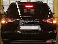 LED оптика Задние фонари для Mitsubishi Pajero Sport 2008+ (черные)
