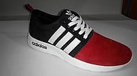Кроссовки мужские Adidas (черно красные)