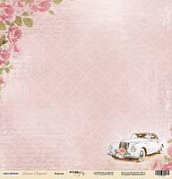 Лист односторонней бумаги 30x30 от Scrapmir Кортеж из коллекции Наша Свадьба