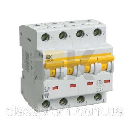 Автоматичний вимикач ВА47-60 4P, 25 A, С IEK