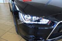 Альтернативная передняя оптика Audi стиль для Mitsubishi Lancer X