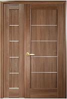 Полуторная (двустворчатая) межкомнатная дверь  НОСТРА МИРА, ПВХ DeLuxe
